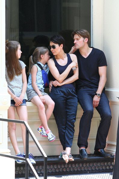 Nikolaj with family. Oh what a lovely family. Nikolaj and wife Nukaka have been married for 16 years. Makes me smile.