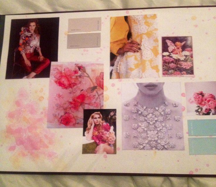 Final major collection moodboards - florals, fashion design