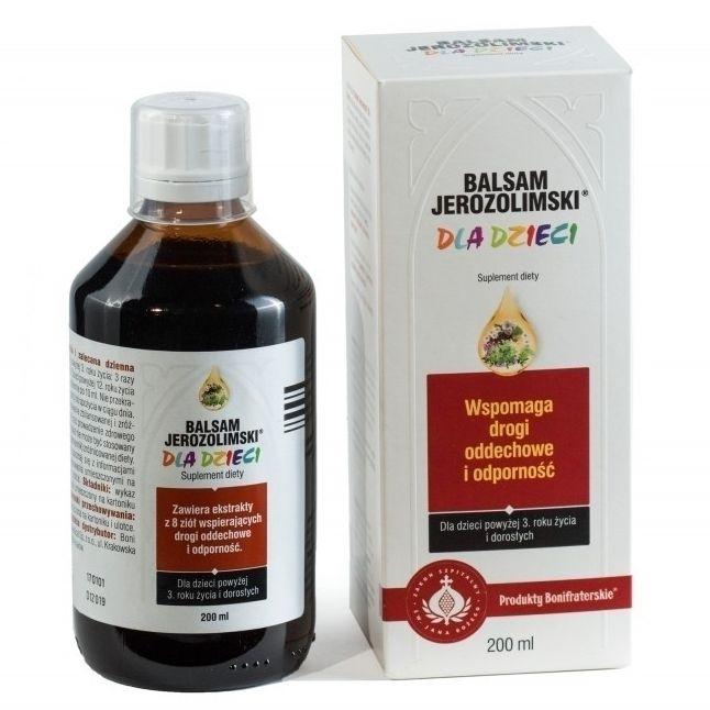 Balsam Jerozolimski® dla dzieci wspomaga drogi oddechowe i odporność.