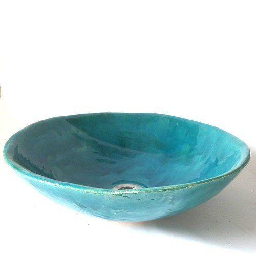 """ceramic washbowl- """"turquoise"""""""