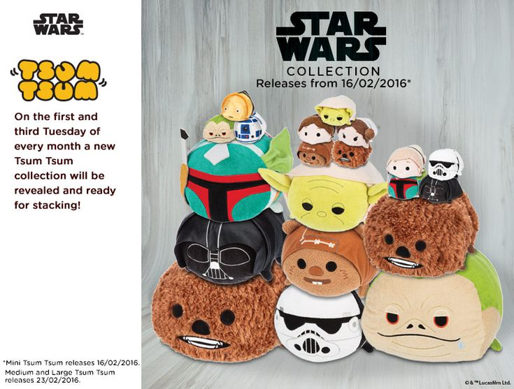 Star Wars Tsum Tsum Mini, Medium, and Large Collection