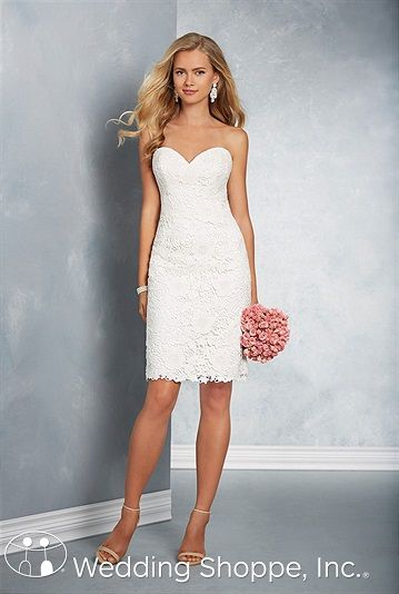 Shop The Alfred Angelo 2607 Wedding Dress This Style Features A Sweetheart Neckline Sheath Silhouette And Knee Length Skirt