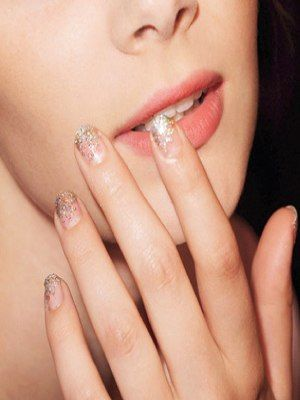 Were Obsessed: Get Glitter Fade Nails In Four Easy Steps     What You Need (left to right):