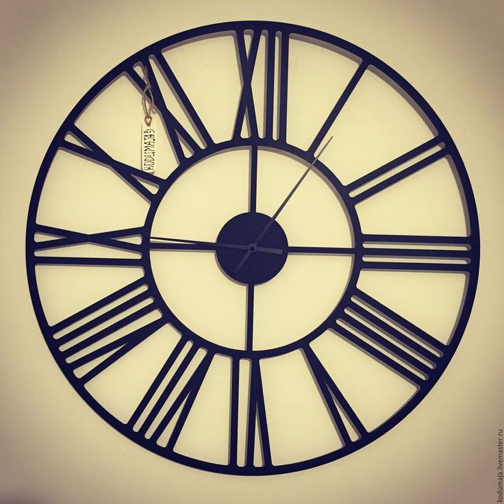 """Купить Часы 60см """"Rooma"""" - часы настенные, настенные часы, часы из металла"""