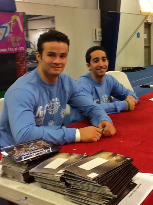 """Check out gymnastics champions, Paul Ruggeri and Jesse Silverstein sporting IGC's """"Winter Series"""" gear! Get yours at www.internationalgymnastics.com!"""