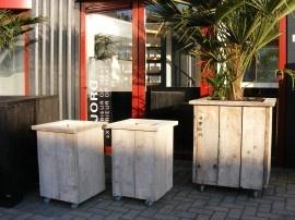 Plantenbak Bloembak 40x40x67cm gebruikt steigerhout (22131602) | PLANTENBAKKEN / BLOEMBAKKEN | JORG`S Houten Meubelen