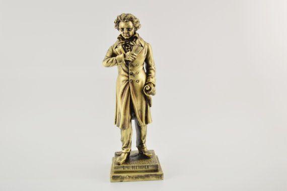 Ludwig van Beethoven statue / Bronze plated  by CraftsAndMetal
