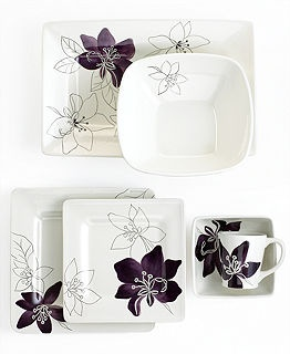 Laurie Gates Dinnerware, Anna Plum Collection Reg.