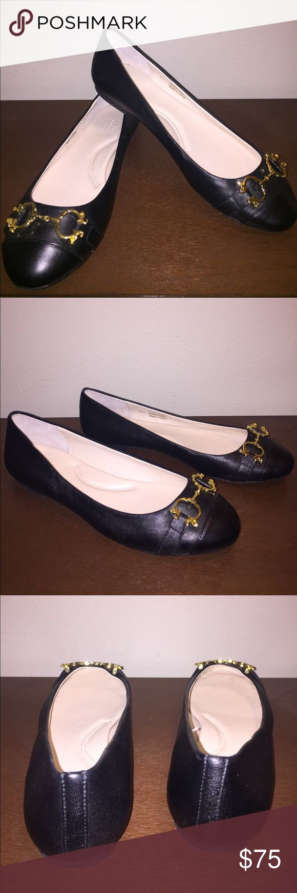 C Wonder Black leather flats C Wonder Black leather flats with gold metal hardware. Like new condition! Love them? Make a reasonable offer through the app! C Wonder Shoes Flats & Loafers