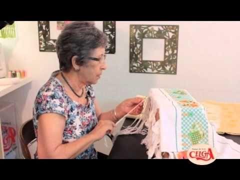 Vida com Arte | Toalha de Lavabo em Crivo com Corte por Leila Jacob - 31 de Outubro de 2014 - YouTube