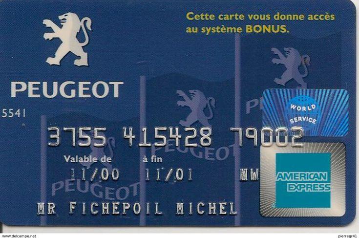 CARTE¤-MAGNETIQUE-CREDIT-PEUGEOT-AMERICAN EXPRESS-12/04-TBE - Frankreich