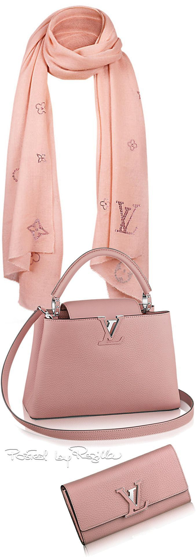 P & D FASHION CONSULTING recommends Styling Loius Vuitton pink # soft # pink # pink # bag # bag # scarf # scarf # cloth # louisvuitton # classic # classic # styles