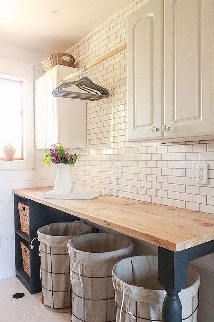 53 Modern Farmhouse Laundry Room Decoration Ideas