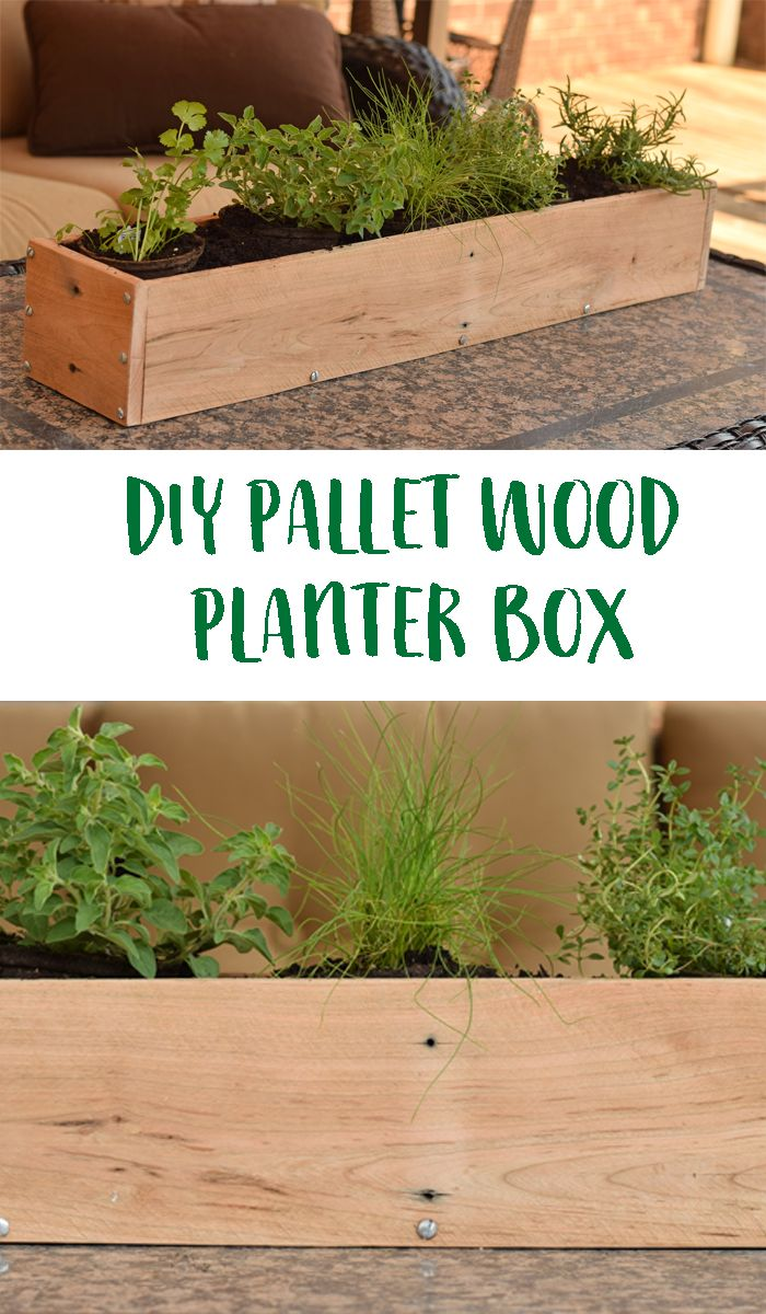 Herb Box Planter Part - 46: DIY Wood Pallet Planter Box. Use Pallet Wood To Create This Simple And Easy  DIY