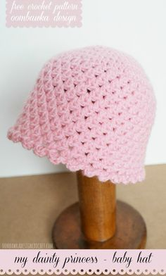 My Dainty Princess Baby Hat #Free #Crochet Pattern Oombawka Design (free pattern)