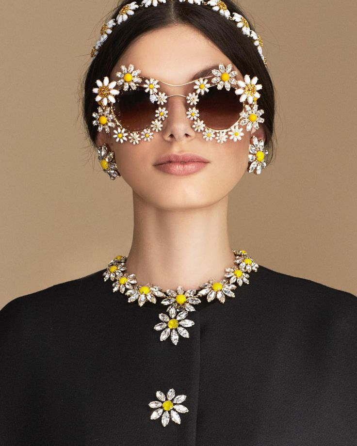 """""""Loves Me, Loves Me Not"""" until the last petal. Discover the Daisy collection at the link in bio. #DGeyewear #DGwomen #dolcegabbana"""