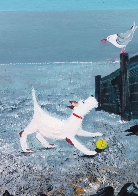 'Just Playing' By Artist Jennifer Verny-Franks.  Blank Art Cards By Green Pebble. www.greenpebble.co.uk