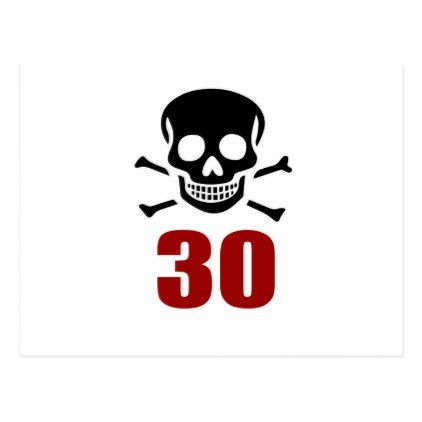 #30 Birthday Designs Postcard - #giftidea #gift #present #idea #number #thirty #thirtieth #bday #birthday #30thbirthday #party #anniversary #30th