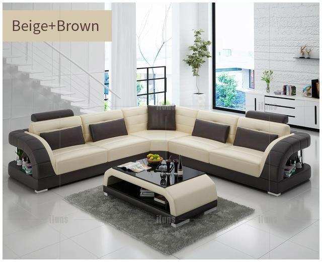Modern Leather Sectional Sofas Living Room Sofa Design