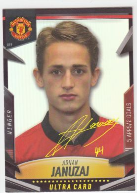 Panini Manchester United 2014 Official Trading Cards Collection Adnan Januzaj Ultra Card