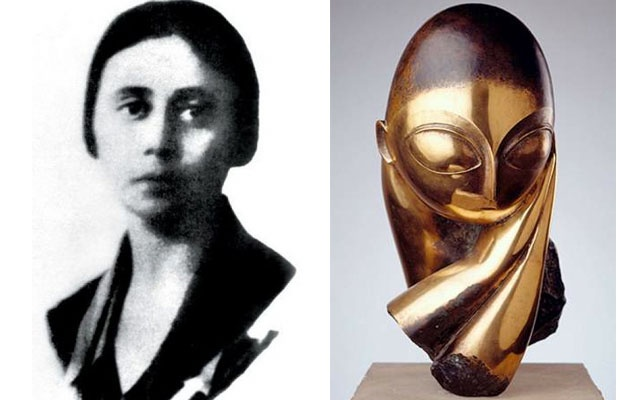 Muse: Margit Pogany  Artist: Constantin Brancusi  Margit Pogany was the inspiration for Brancusi's Mademoiselle Pogany (1931), a sculpture considered a modern masterpiece. The work was 23-years in the making, time the Romanian artist spent refining his vision of perfect beauty.