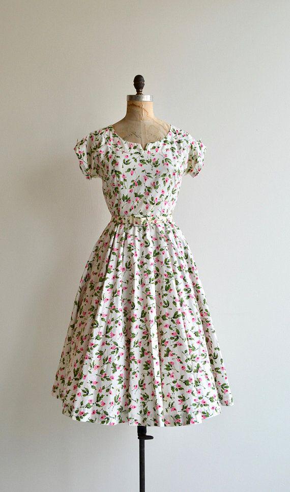 Miss Prim Dress Vintage 50s Floral Dress Floral Print Floral Print Dress Vintage Street Fashion Vintage Dresses