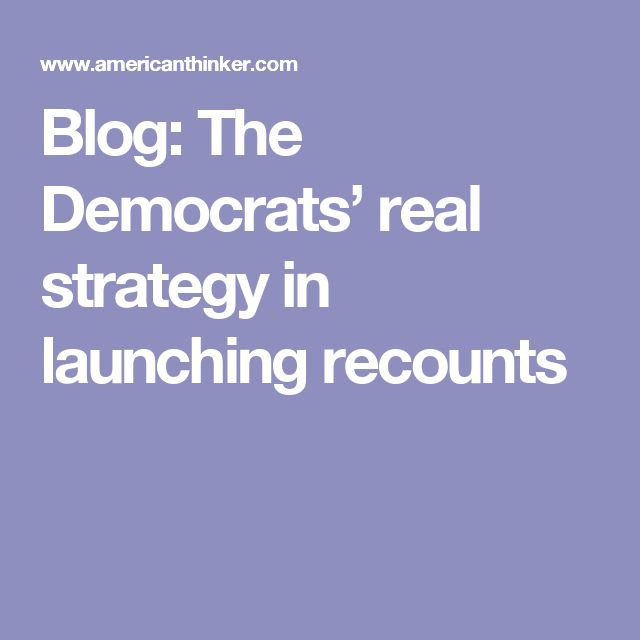 news democrats real strategy launching recounts
