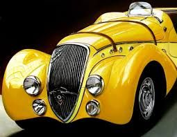 Image result for hyperrealism vintage car painting
