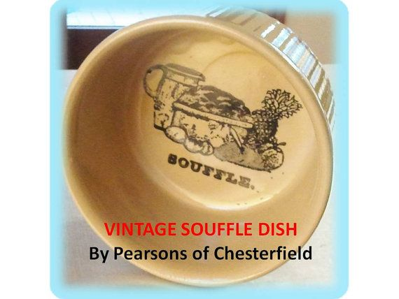 VINTAGE SOUFFLE DISH  Pearsons of Chesterfield by PenelainAntiques, $19.95