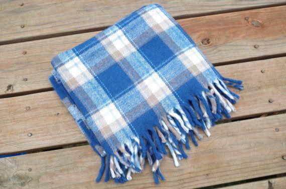 Vintage Soft Acrylic Blanket Faribault Woolen by ThriftedLoves