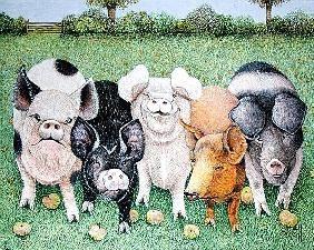 Pat  Scott - A Chorus Line (acrylic on canvas)