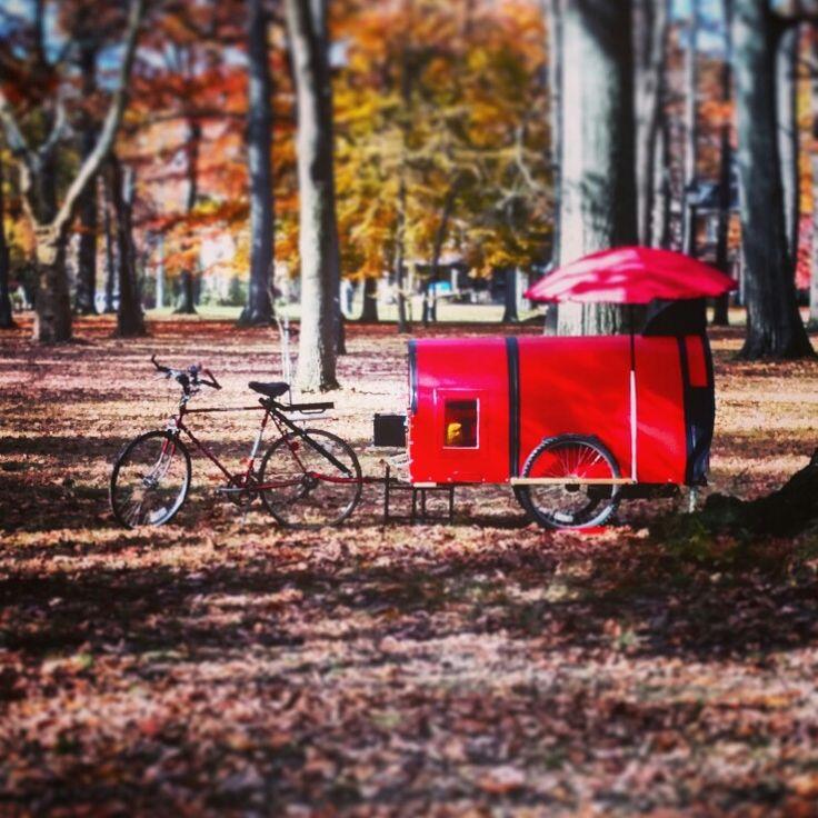bicycle camper caravan trailer tiny home survival pod