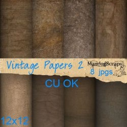 8 Vintage papers 12x12 in size    Commercial use OK no credit required