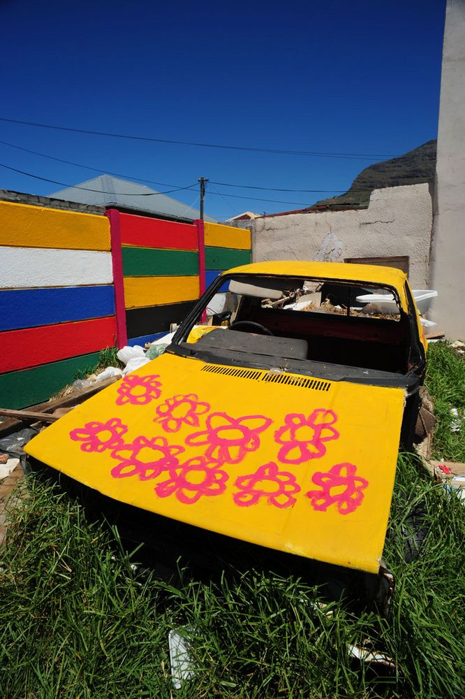 A car in a cape town township