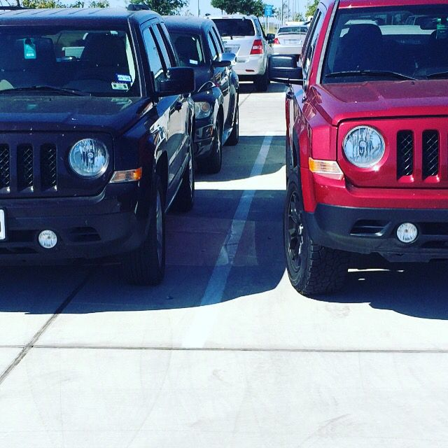 2012 Jeep Patriot lifted vs not lifted Pat