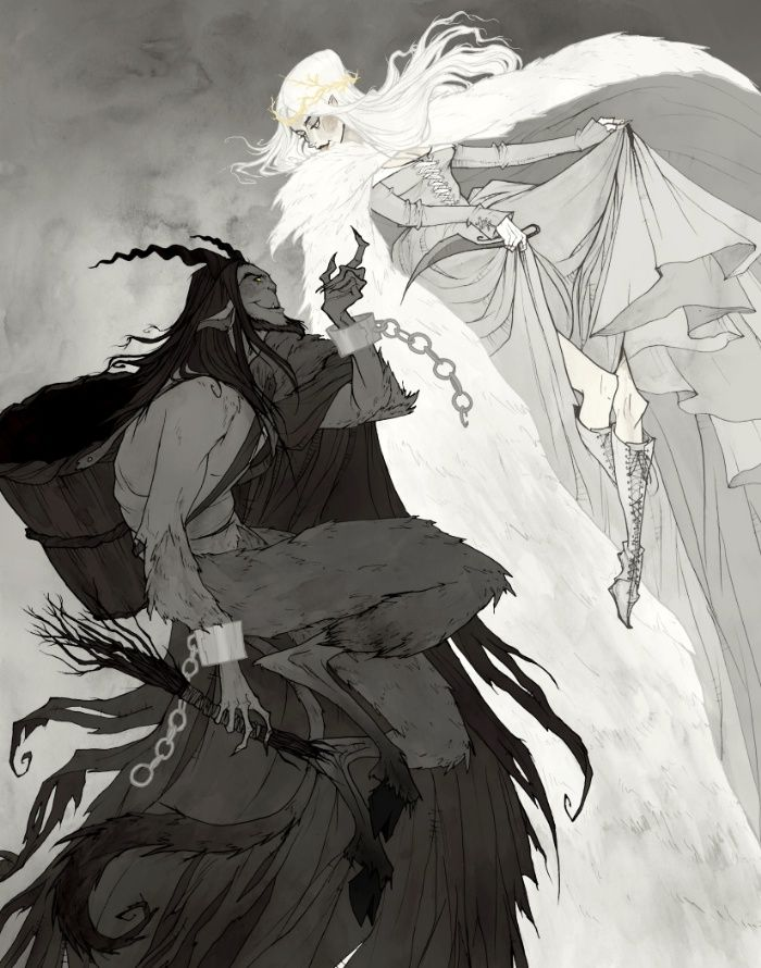 """Krampus and Perchta"" by Abigail Larson"