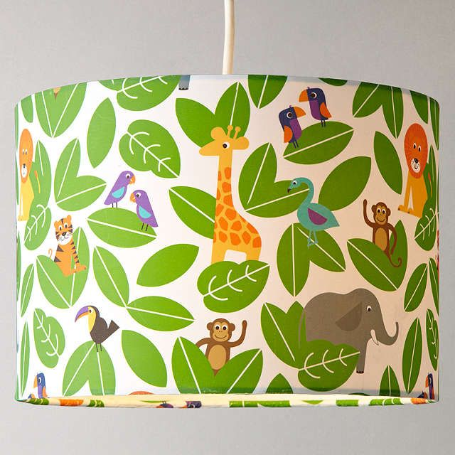 Buylittle home at John Lewis Animal Fun Jungle Lampshade Online at johnlewis.com