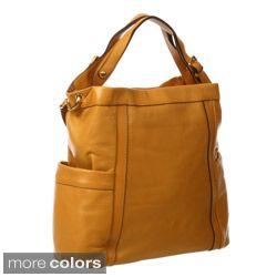 Presa 'Kennington' Oversized Leather Hobo Bag With Shoulder Strap 82
