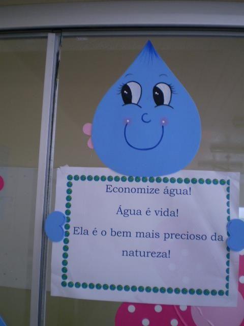 mensagem dia da agua - Atividades para Educação Infantil