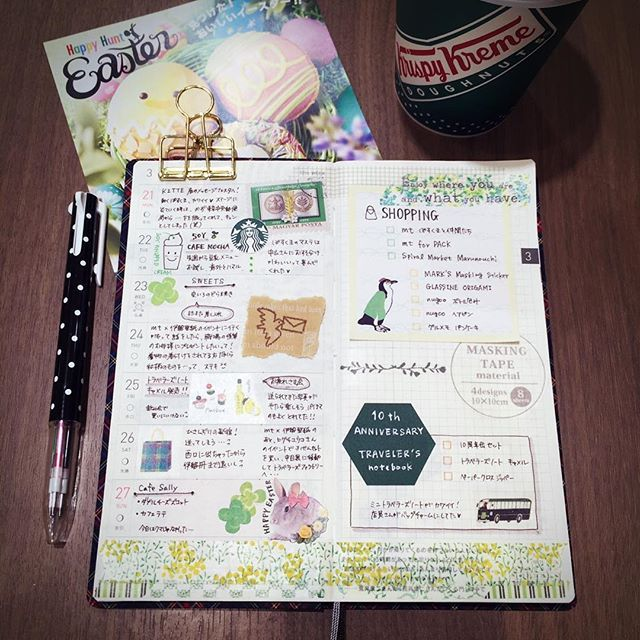3/21週の手帳 お買い物記録は、マステ、付箋、折り紙、トラベラーズノート…と文房具だらけ メッセージフェスタで、東京中央郵便局内を歩くぽすくまにキュンとなった週(笑) * * * #手帳 #ほぼ日 #ほぼ日手帳 #ほぼ日WEEKS #マステ #マスキングテープ #付箋 #カフェとノート部 #diary #hobonichi #hobonichitecho #hobonichiweeks #maskingtape #washitape #stickynotes