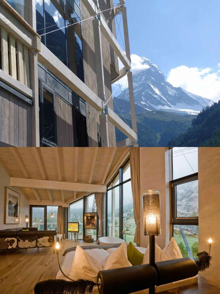 Hotel Matterhorn Focus | Design Hotel | Switzerland | http://lifestylehotels.net/en/matterhorn-focus | View | Alps | Design | Lifestyle