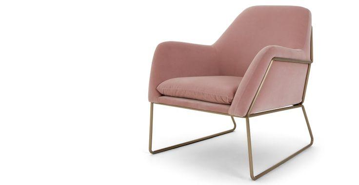 Frame Armchair, Blush Cotton Velvet | made.com