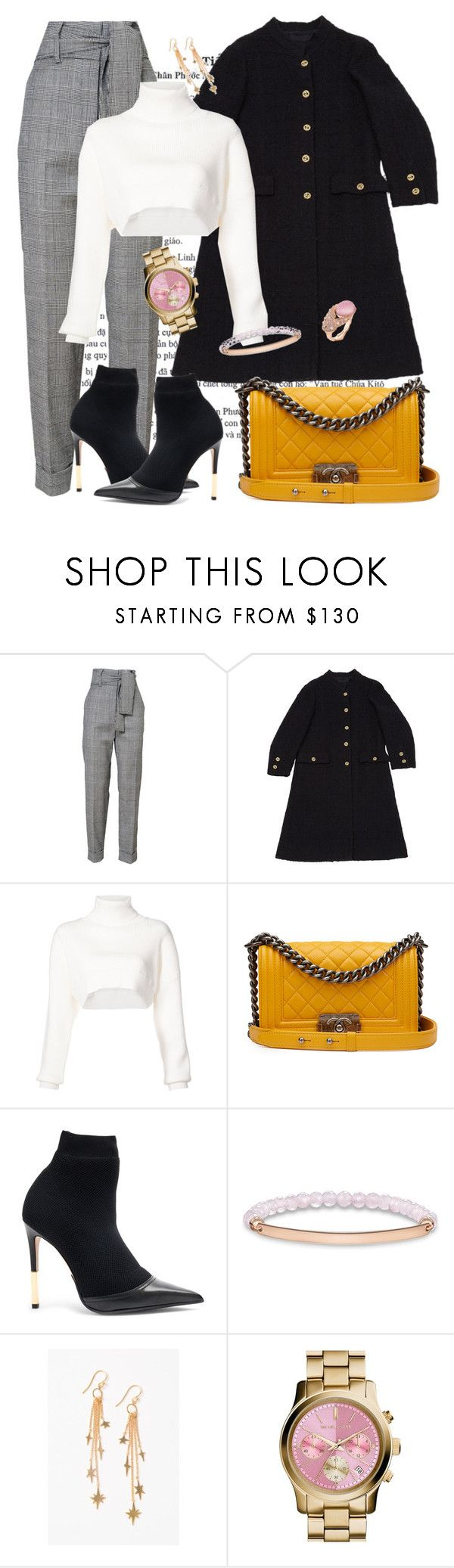 """The suit trend"" by roula-gedeon ❤ liked on Polyvore featuring Chanel, Alexandre Vauthier, Balmain, Thomas Sabo, Chan Luu and MICHAEL Michael Kors"