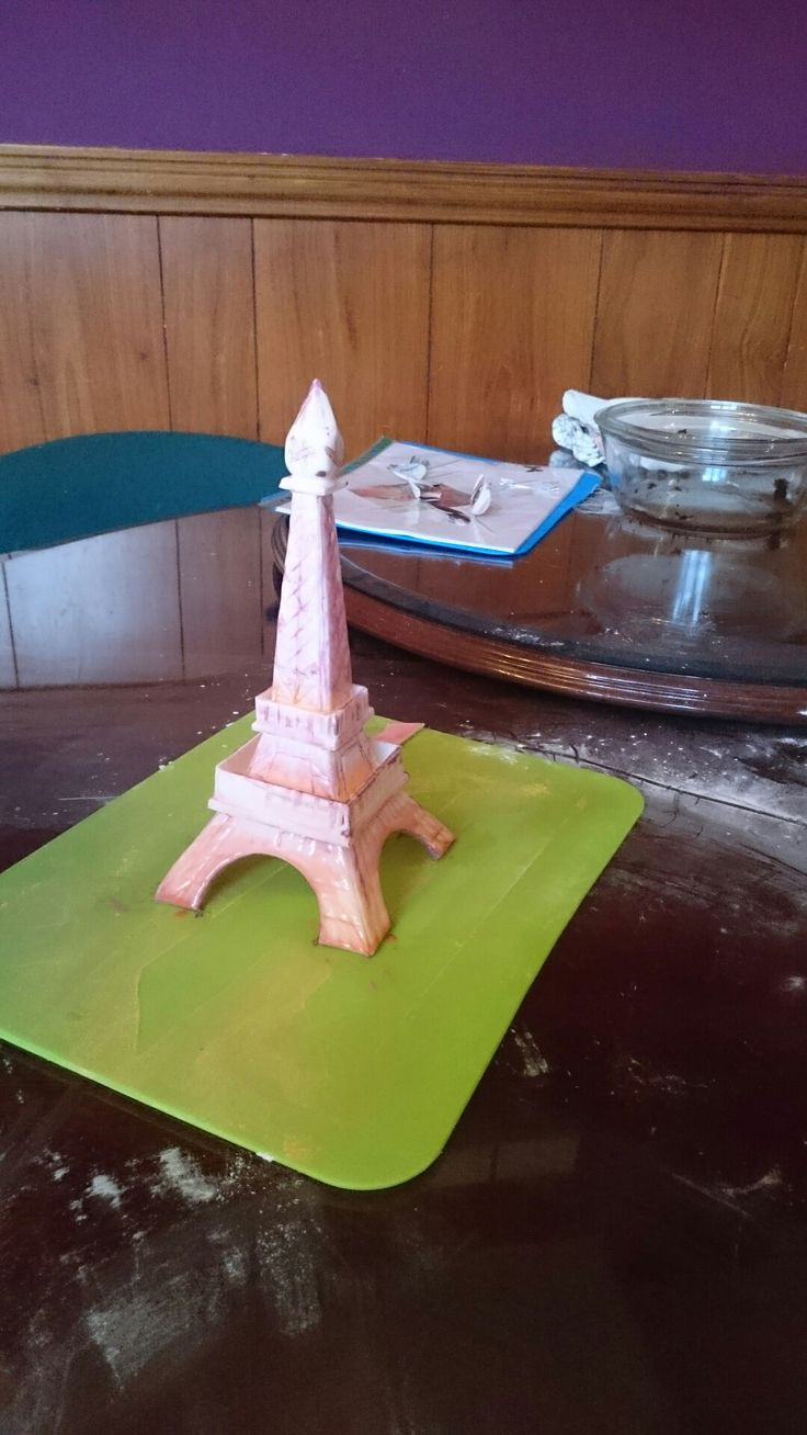 Painted fondant eiffel tower