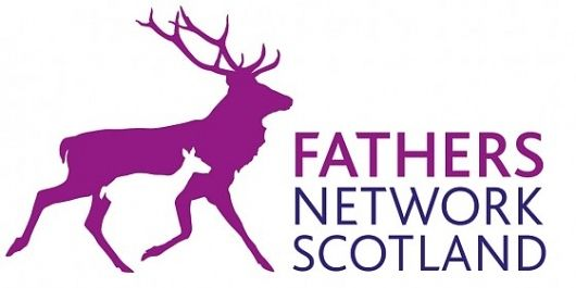 Fathers Network Scotland. Logo. Stags, father and child. Frank Sketchblog