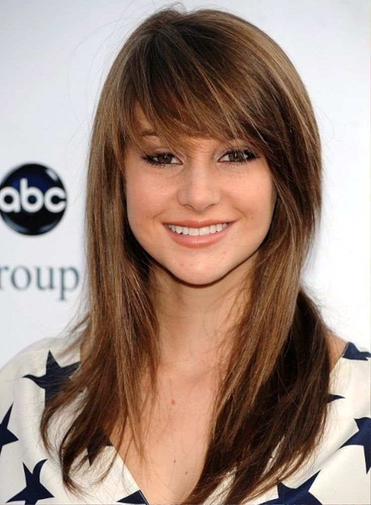 Long Layered Hairstyle with Side Bangs