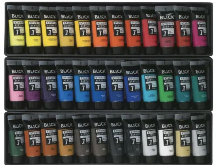 Blick studio acrylics and sets in 2020 acrylic paint set