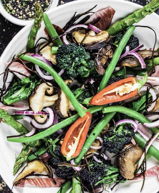 Superfood Salad with Miso Tahini Dressing