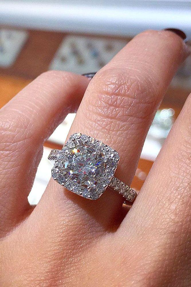 18 Utterly Gorgeous Engagement Ring Ideas ❤ See more: http://www.weddingforward.com/engagement-ring-inspiration/ #wedding #engagement #rings