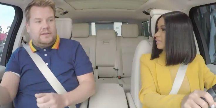 WATCH: Cardi B Crashes A Car In Carpool Karaoke With James